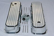 CHROME Aluminum BIG BLOCK Chevy Tall Ball Milled Valve Covers BBC 396 427 454