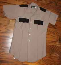 Men's Southeastern Code 9 Two Tone Brown Police Short Sleeve Shirt  Size 15.5