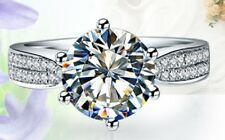 3Ct Round Excellent Cut Diamond Solitaire Engagement Ring,Platinum Never Tarnish