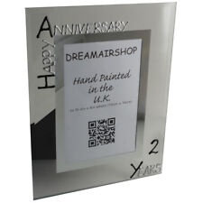 2nd Year Anniversary Photo Frame (P) (Black/Silver)