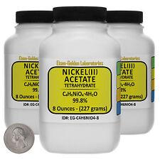 Nickel Acetate [C4H6NiO4] 99.8% AR Grade Powder 1.5 Lb in Three Bottles USA