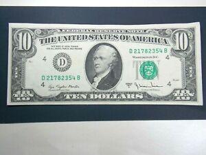 UNITED STATES 1977 10 DOLLARS .EF