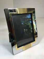 "Freestanding Photo Frame Shelf Style Silver And Gold Color For 5""x 7"" Photo"