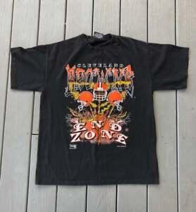 Vintage Cleveland Browns NFL  Football T-Shirt Black Unisex Reprint TK4267