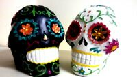 Day of the Dead los muertos, black and white Skull Set