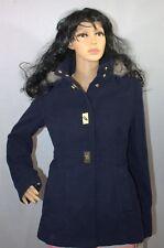 Maralyn & Me Womens Faux-Fur-Trim Turn-Lock Coat Size: Medium Winter New /w Tag