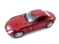 Mercedes Benz SLS AMG in rot Modellauto Metall 1:34, diecast,Welly Nex Model
