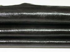 SHINY DARK BROWN ANTIQUED Italian Goatskin Goat leather skin 5sqf 1.2mm #A5440