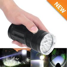 30000LM 12x CREE XM-L T6 LED Flashlight Torch 4x 18650 Zoom Light Lamp USA TO
