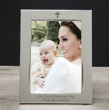 Personalised 5x7 Cross Photo Frame Gifts Ideas For Christening Baptism New Born