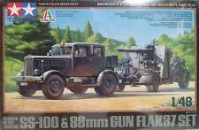 Tamiya 1/48 scale kit 37027, German Heavy tractor Ss-100, w/88mm. Flak 37.