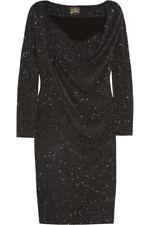 VIVIENNE WESTWOOD ANGLOMANIA Loxo glitter-finished stretch-jersey dress Sz L/14
