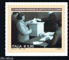 ITALIA 1 FRANCOBOLLO ANNIVERSARIO DIRITTO DI VOTO ALLE DONNE 2016 nuovo**