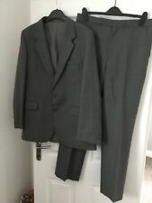 """BHS Men's grey suit jacket and trousers. Wool blend. Trousers W34 L31 Jacket 40"""""""