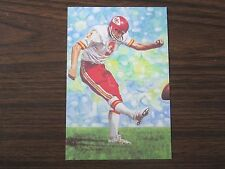 1991 Jan Stenerud Goal Line Art Card Kansas City Chiefs / Montana State