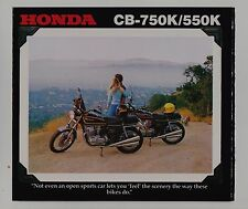 1978 HONDA CB750K & CB550K Original SALES BROCHURE Vintage Motorcycle