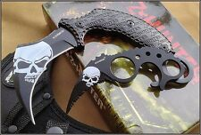 "Z-HUNTER FIXED BLADE KARAMBIT COMBO 6.75"" & 4.5"" FULL TANG KNIFE W/ NYLON SHEATH"
