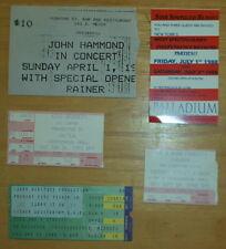 Five Ticket Stubs  Pete Seeger Carry it On, Crosby, Stills & Nash, John Hammond