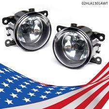 Left & Right Fog Light Lamp Clear w/ H11 Bulb For Acura Honda Ford Nissan Suzuki