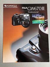 Fuji GW670 III Professional Camera, A4, Single Fact Sheet