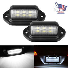 2pcs Led License Plate Light Tag Lamps Assembly Replacement For Truck Trailer Rv