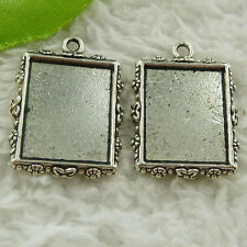 Free Ship 68 pcs tibet silver frame charms 25x19mm #4508