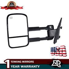 Left Tow Mirror Fits 2007-2013 Chevy Silverado Manual Telescoping Power Heated