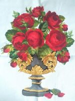 "NEW completed finished cross stitch""Beauty Red Roses Cup"" home decor gifts"