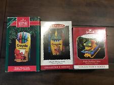 New ListingLot of 3 Hallmark Crayola Crayon Series Ornaments ~ 1991, 1993, 1998