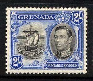 Grenada SG 161 Cat £45 2 Shillings Ultramarine & Black P12.5 Very Lightly Mounte