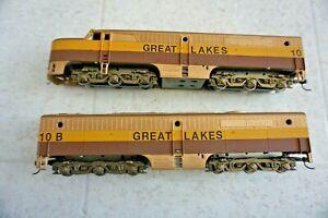 HO Diesel Locomotive Athearn Powered A & B Lot 33221 Loco Custom Great Lakes