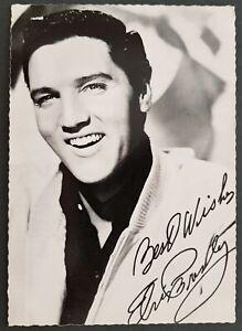 Elvis Presley Autogrammkarte. Schöner Zustand