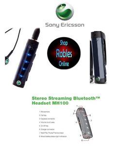 Sony Ericsson MH100 Black Wireless Stereo Bluetooth Headset Genuine TOP
