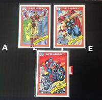 Marvel Universe Series I 1990 Captain America Iron Man Thor 3 card Lot