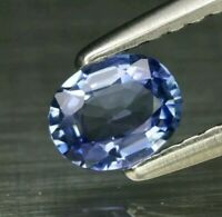 Zafiro  Azul 0.40 ct 5x4 mm oval natural  de Madagascar solo climatizada
