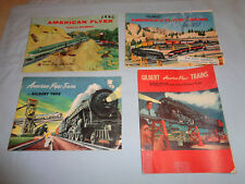 4 Original American Flyer Catalogs: 1952, 1954, 1956 and 1957