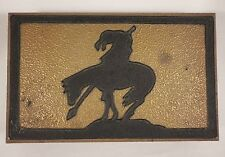 Arts & Crafts END OF TRAIL Indian Horse Wood Jewelry Sewing Trinket Candy BOX