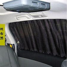 2 X Black Car Sun Shade Curtain UV Proof Side Window Mesh Style Curtain Visor