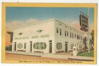 Hotel Palms & Grill, GEORGE SC Vintage 1948 South Carolina Postcard