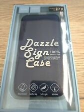 Hoco Dazzle Sign Leather Flip Case with Card Holder for iPhone X - Blue