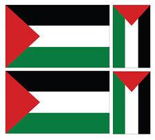 4 X PALESTINIAN PALESTINE FLAG VINYL CAR VAN IPAD LAPTOP STICKER