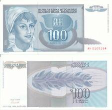 Yugoslavia / Jugoslawien - 100 Dinara 1992 UNC - Pick 112