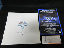 Asia 2007 Japan Tour Book with Ticket Flyer Yes Steve Howe Elp Buggles Program