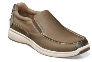 Florsheim Great Lakes Slip On Shoes Stone Moc Toe 13320-275