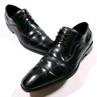 Ecco Black Leather Dress Shoes Size EU 45 US 11-11.5 Men's