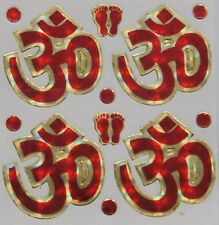 Small Auspicious Hindu//Buddhist Stickers Holographic Leaf 5.7cm x 7.6cm S11