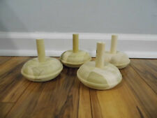 "Fluted Bun Unfinished Furniture Feet Chair sofa Couch Legs 3/"" #056 4 legs"