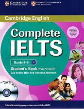 Cambridge COMPLETE IELTS Bands 4-5 STUDENT'S BOOK +CD-ROM Answers AUDIO CDs @New