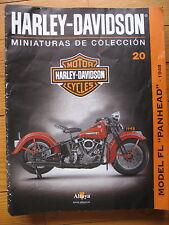 FASCICULE 20  MOTO COLECCION HARLEY DAVIDSON  MODEL FL PANHEAD 1948