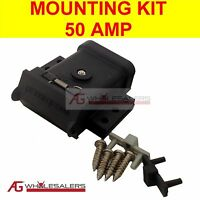 ANDERSON PLUG MOUNTING KIT 50A MOUNT SYSTEM COVER DUST CAP EXTERNAL FOR TRAILER